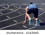 middle aged man on the starting ... | Shutterstock . vector #6163660