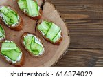 sandwich with feta cheese and...   Shutterstock . vector #616374029