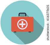 medical briefcase in flat style ... | Shutterstock .eps vector #616375631