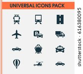 transportation icons set.... | Shutterstock .eps vector #616380095