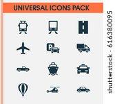 transportation icons set.... | Shutterstock .eps vector #616380095