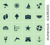 hot icons set. collection of... | Shutterstock .eps vector #616381031