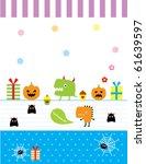 cute baby monster celebrate... | Shutterstock .eps vector #61639597