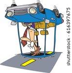 cartoon man in a car accident   Shutterstock .eps vector #616397675