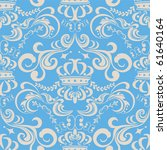 Abstract Seamless Blue Pattern...