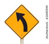 Road Sign Warning Of Dangerous...