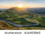 sunset at mam tor in the peak... | Shutterstock . vector #616405865