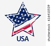 grunge american flag  usa star... | Shutterstock .eps vector #616410539