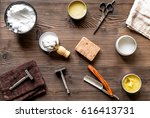 tools for cutting beard in... | Shutterstock . vector #616413731