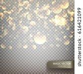 magic vector luminous... | Shutterstock .eps vector #616421099