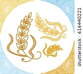 wheat. vector illustration.   Shutterstock .eps vector #616440221