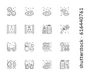 vector icons in linear style on ... | Shutterstock .eps vector #616440761