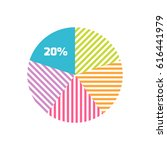pie chart icon or logo in...