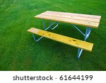 Wooden Tables And Lawn
