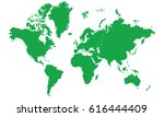 continents map green color | Shutterstock .eps vector #616444409