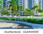 outdoor garden on rooftop of...   Shutterstock . vector #616444505