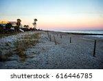 sunset at edisto beach north... | Shutterstock . vector #616446785