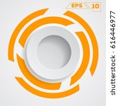 circle background flat design ... | Shutterstock .eps vector #616446977