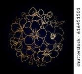 graphic sakura flowers in the...   Shutterstock .eps vector #616451501