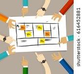 business model framework. team... | Shutterstock .eps vector #616452881