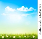 spring nature background with a ... | Shutterstock .eps vector #616459175