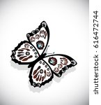 colorful butterfly isolated on... | Shutterstock .eps vector #616472744