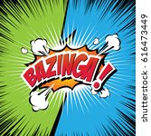 bazinga  comic speech bubble ... | Shutterstock .eps vector #616473449