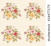 seamless floral pattern with... | Shutterstock .eps vector #616477175