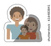 people family together image | Shutterstock .eps vector #616483841