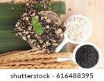 snack black sesame mix oatmeal  | Shutterstock . vector #616488395