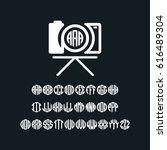 photography camera monogram... | Shutterstock .eps vector #616489304