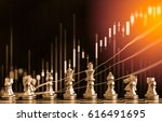 chess game on chess board...   Shutterstock . vector #616491695