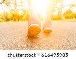 women healthy jogging during... | Shutterstock . vector #616495985