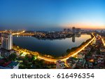 aerial view of hanoi skyline... | Shutterstock . vector #616496354