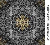 seamless classic golden pattern.... | Shutterstock . vector #616503869