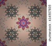 colored mandala logo on... | Shutterstock .eps vector #616507835