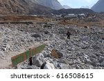 Small photo of LANGTANG, NEPAL, 07 APRIL 2017 --The landscape around the mountains on Langtang Valley two years after the earthquake that led to the destruction of the abysmal.