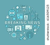 breaking news concept... | Shutterstock .eps vector #616509125