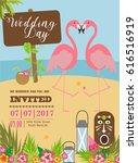 wedding invitation card | Shutterstock .eps vector #616516919
