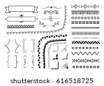set of different decorative... | Shutterstock .eps vector #616518725