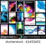 modern business card collection ... | Shutterstock .eps vector #61652602