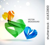 abstract vector background. | Shutterstock .eps vector #61652800