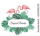 tropical paradise promotion... | Shutterstock .eps vector #616536125