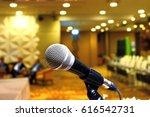 closeup of microphone in... | Shutterstock . vector #616542731