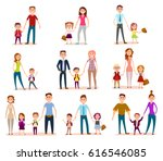 set family child education... | Shutterstock . vector #616546085