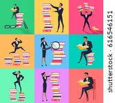 stack of books | Shutterstock . vector #616546151