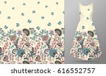 vector seamless pattern with... | Shutterstock .eps vector #616552757