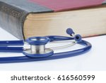 book and stethoscope  | Shutterstock . vector #616560599