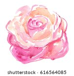 watercolor colorful hand drawn... | Shutterstock . vector #616564085