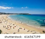 bondi beach in sydney on a... | Shutterstock . vector #616567199